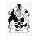 Escudo de la familia de Buller Invitación 12,7 X 17,8 Cm