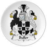 Escudo de la familia de Buller Platos De Cerámica