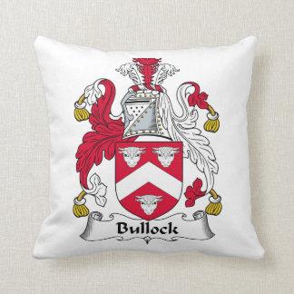 Escudo de la familia de Bullock Cojín