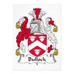 Escudo de la familia de Bullock Invitación