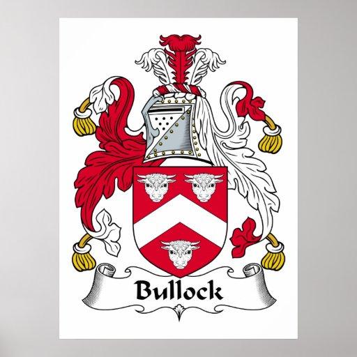 Escudo de la familia de Bullock Póster