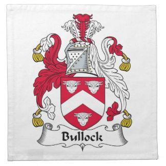 Escudo de la familia de Bullock Servilleta