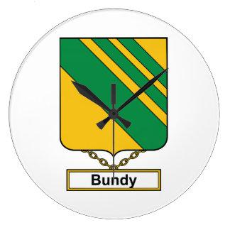 Escudo de la familia de Bundy Relojes De Pared