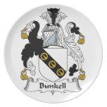 Escudo de la familia de Bunkell Platos Para Fiestas