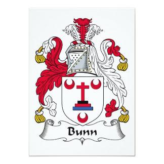 """Escudo de la familia de Bunn Invitación 5"""" X 7"""""""
