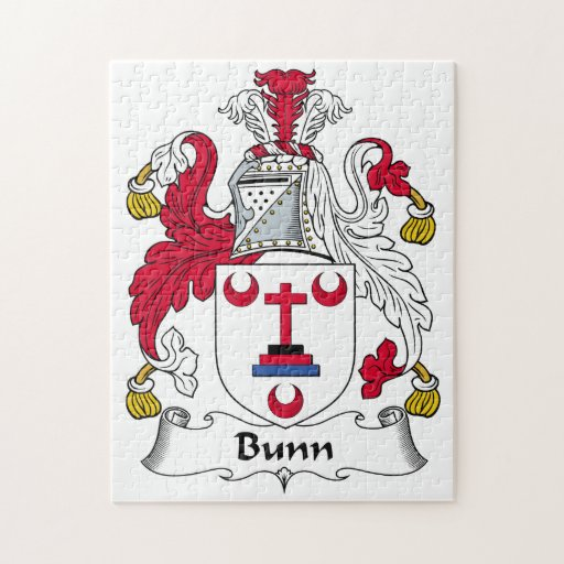 Escudo de la familia de Bunn Rompecabezas