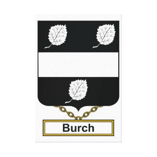 Escudo de la familia de Burch Impresión En Lienzo Estirada