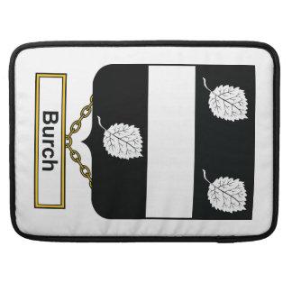Escudo de la familia de Burch Funda Para Macbook Pro
