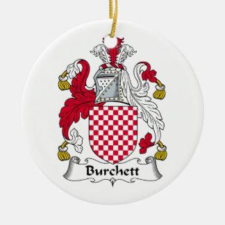 Escudo de la familia de Burchett Adorno Redondo De Cerámica
