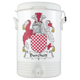 Escudo de la familia de Burchett Vaso Enfriador Igloo