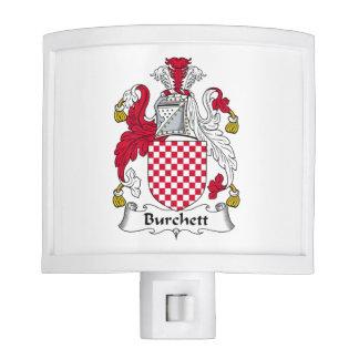 Escudo de la familia de Burchett Lámpara De Noche
