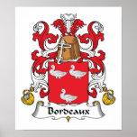 Escudo de la familia de Burdeos Poster