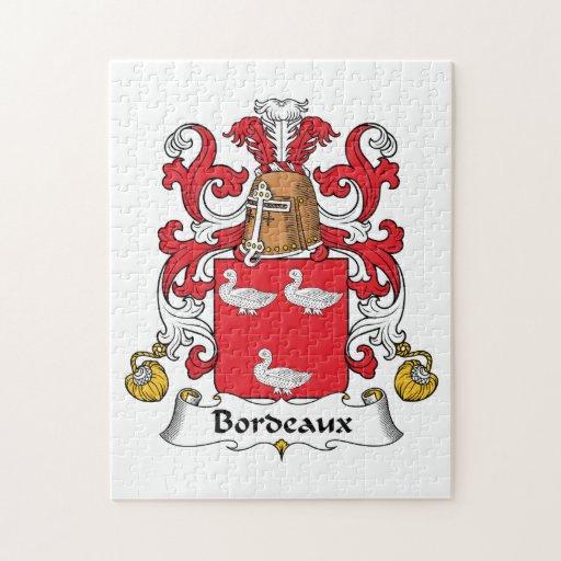 Escudo de la familia de Burdeos Puzzle