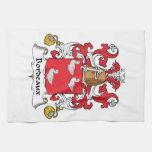 Escudo de la familia de Burdeos Toalla De Mano