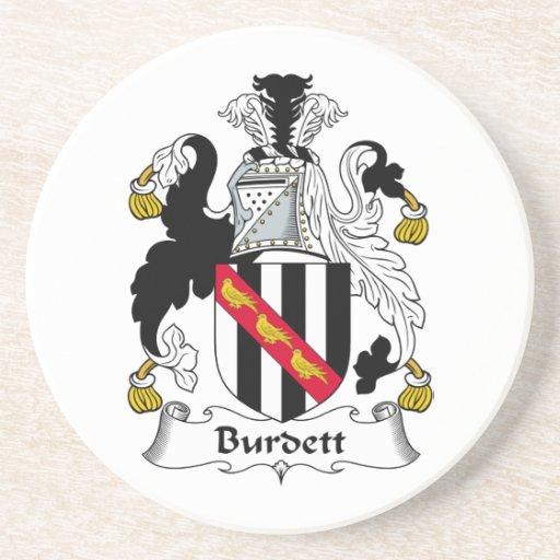 Escudo de la familia de Burdett Posavasos Diseño
