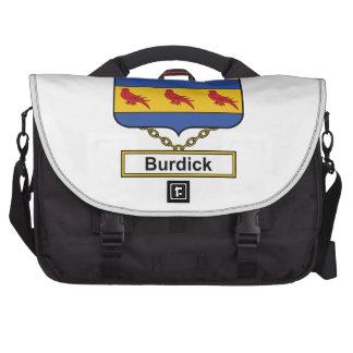 Escudo de la familia de Burdick Bolsas De Portátil