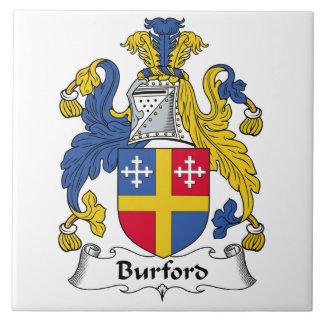 Escudo de la familia de Burford Azulejo Ceramica