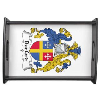 Escudo de la familia de Burford Bandeja