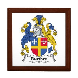 Escudo de la familia de Burford Cajas De Regalo