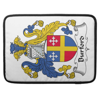 Escudo de la familia de Burford Fundas Macbook Pro