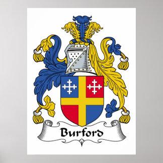 Escudo de la familia de Burford Impresiones