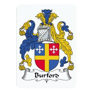 Escudo de la familia de Burford Invitación 12,7 X 17,8 Cm