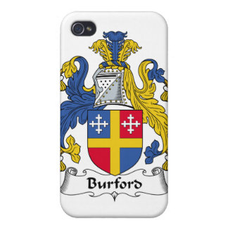 Escudo de la familia de Burford iPhone 4 Cárcasas