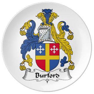 Escudo de la familia de Burford Platos De Cerámica