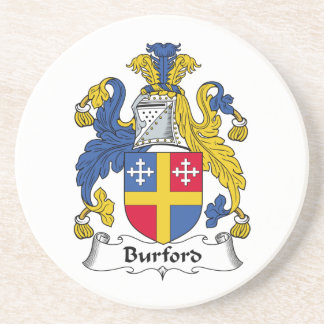 Escudo de la familia de Burford Posavasos Manualidades
