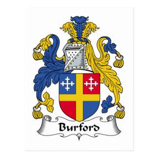 Escudo de la familia de Burford Postal