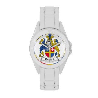 Escudo de la familia de Burford Relojes