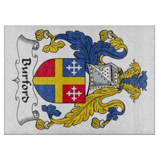 Escudo de la familia de Burford Tablas Para Cortar