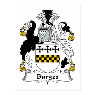Escudo de la familia de Burges Postal