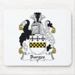 Escudo de la familia de Burges Tapetes De Ratón
