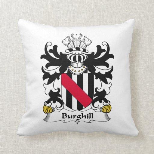 Escudo de la familia de Burghill Almohada