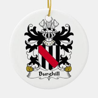 Escudo de la familia de Burghill Adorno Redondo De Cerámica