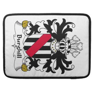 Escudo de la familia de Burghill Fundas Para Macbooks
