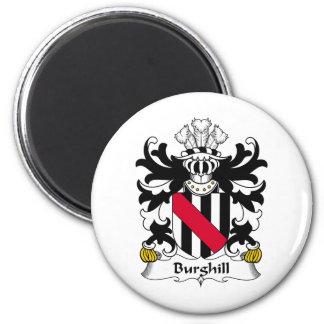 Escudo de la familia de Burghill Imán Redondo 5 Cm
