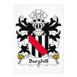 Escudo de la familia de Burghill Invitaciones Personalizada