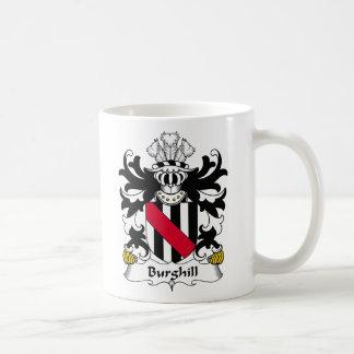 Escudo de la familia de Burghill Taza Básica Blanca