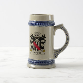 Escudo de la familia de Burghill Jarra De Cerveza