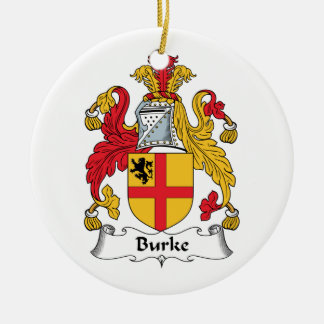 Escudo de la familia de Burke Adorno Navideño Redondo De Cerámica