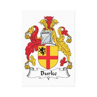 Escudo de la familia de Burke Impresión En Lienzo