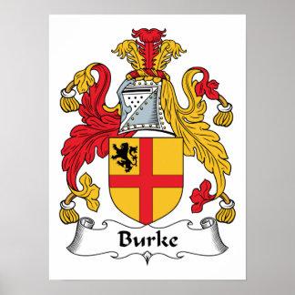 Escudo de la familia de Burke Póster