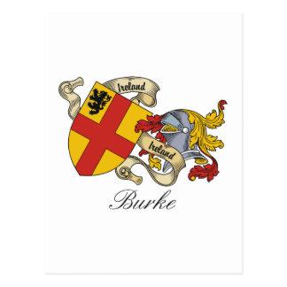 Escudo de la familia de Burke Tarjeta Postal
