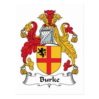 Escudo de la familia de Burke Tarjetas Postales