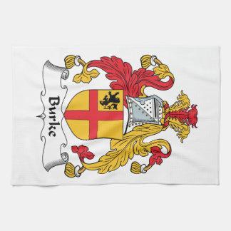 Escudo de la familia de Burke Toallas