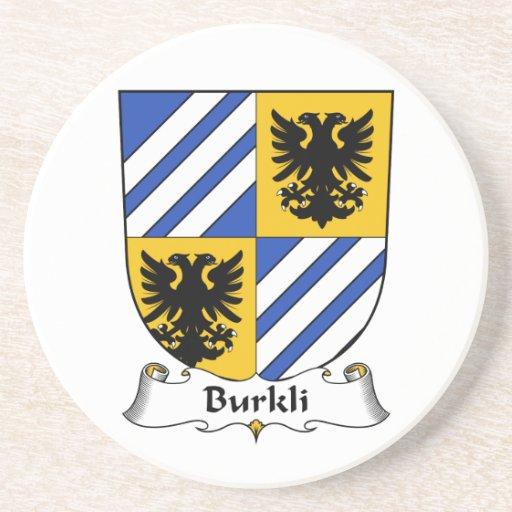 Escudo de la familia de Burkli Posavasos Cerveza