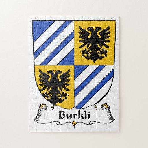 Escudo de la familia de Burkli Rompecabezas Con Fotos