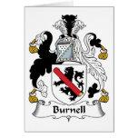 Escudo de la familia de Burnell Tarjeton
